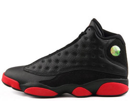 Wholesale Leather Wrestling Shoes - Air Retro 13 he got game black white blue grey bred Mens Retros 13s XIII Basketball Shoes J13 Leather Hologram Grey Toe Flint Grey