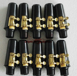 Wholesale Ligature For Alto Saxophone - Wholesale- 10 set Alto sax mouthpiece and ligature and cap Free shipping