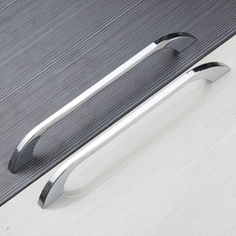 Wholesale Stainless Steel Cabinets Pulls - Modern Minimalist Furniture Handles Door Shoe Wardrobe Cabinet Big Knob Drawer Pull Large Hole Distance128 160 192 224 256 320mm