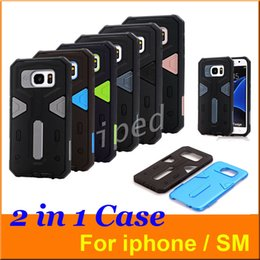 Wholesale Cheapest Iphone Hard Cases - Cheapest hot Warrior Heavy Duty Armor Hybrid 2 in 1 TPU PC Shockproof Hard Back Cover Case for iPhone 6 6s Samsung S6 S7 LG Rugged Iron Man