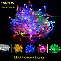Wholesale Animal Keyboard - New Christmas LED Strips 10M string Decoration Light 110V 220V For Party Wedding led twinkle lighting Christmas decoration lights string