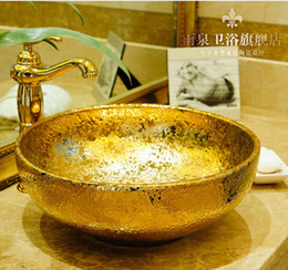 Wholesale Ceramics Sanitary Ware - Golden. European round. The stage basin. Ceramic sanitary ware basin. Art basin