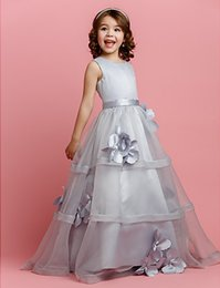Wholesale Exquiste Wedding Dress - 2016 Noble Exquiste Flower Dresses Lovely Flower Girl Dresses Pure Girl Pageant Dresses Wedding Accessories New Arrival