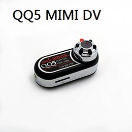 Wholesale Wide Angle Mini Hd Camera - QQ5 Mini Camera Full HD 1080P 720P Infrared Night Vision DV Camera Camcorder 12MP Cam Webcam 170 Wide Angle Motion Detection