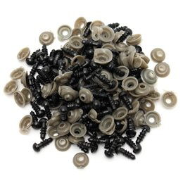 Wholesale Black Safety Eyes 6mm - Wholesale-Wholesale Cheapest 100Pcs 50 Pairs 6mm Black Plastic Safety Eyes For Teddy Bear Stuffed Toys Snap Animal Puppet Dolls Craft