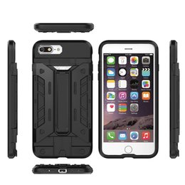 Wholesale Cellphone Cooler - Armor Slide Card Slot Phone Cases For iPhone X 5 6 7 Havy Duty Kickstand Super Cool Cellphone Back Cover For Iphone Series
