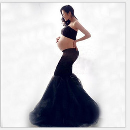 Wholesale Winter Dresses For Pregnancy Women - New Maternity Photography Props clothing for pregnant women Mermaid Dress Pregnancy black Romantic set Princess Free shipping