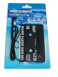 Wholesale Mp3 Cassette Tape - 3.5mm Universal Car Audio Cassette Adapter Audio Stereo Cassette Tape Adapter for MP3 Player Phone BLACK 50pcs lot Free DHL