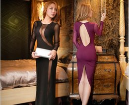 Wholesale Sexy Tight Black Silk Dress - 2016 Hot selling summer black night club nightclubs dress sexy babes sexy halter tight package hip dress two colors