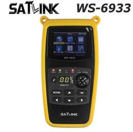 Оригинальный Satlink WS-6933 DVB-S2 FTA C KU Band цифровой спутниковый Искатель метр с 2.1-дюймовым ЖК-дисплеем от