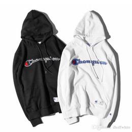 Wholesale Lapel Sweater - Europe Amrican Street Skateboarding Brand Men's Hip Hop Hooded Sweater Men Women Pullover Loose Hoodie Tops
