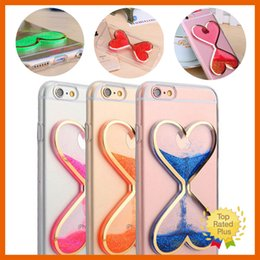 Wholesale Glitter Silicone Iphone Cases - Dynamic Liquid Glitter Quicksand Clear Soft Phone Case Cover Mobile Covers For iPhone 7 5 5s se 6 6s Plus