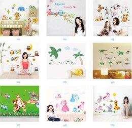Wholesale Mix Order Nursery - Mix Order Wholesale Removable Wall Stickers Home Decals Kids Room Wall Stickers Nursery Wall Decor 50x70cm Wall Art Sticker