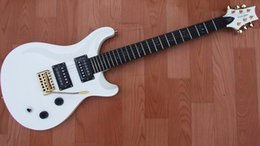 Wholesale Pr Body - Free shipping brand new Mahogany Body pr 24 fret double wave electric guitar with birds fret in stock