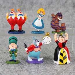 Wholesale Alice Wonderland Toy Set - Wholesale - 6 inch Details about min Alice in Wonderland PVC Cake Toppers Figure Toy 6 pcs set JXU