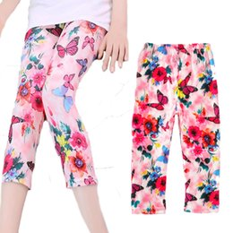 Wholesale Christmas Leggings For Kids - toddler girl leggings 2017 cute butterfly flower printed leggings for girls kids clothes fashion 2-7Y baby girls autumn clothing christmas