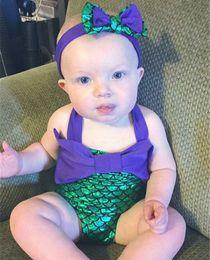 Wholesale Toddler Girl Wearing Swimsuit - Mermaid Swimwear Kids Bikini Baby Swimsuit Girls One piece Swim wear Toddler Swimming suit Children Bathing suit Cosplay Gifts 2016 new
