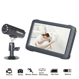 """Wholesale Wireless Dvr Security Camera Systems - 5"""" TFT Digital 2.4G Wireless Camera Audio Video Baby Monitor 8CH DVR Security System with IR Night Cam Motion Detect"""