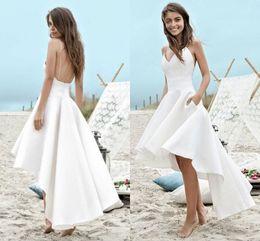 cinghia spiaggia abiti da sposa alto basso Sconti