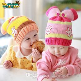 Wholesale Woolen Caps For Boys - Winter Warm Hats Baby Kids Toddlers Cute Ears Hats Woolen Knitted Hat Beanie Girl Boy Cap,hats for children