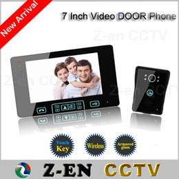 """Wholesale Wireless Home Video Door Security - hot sale 7"""" TFT Monitor LCD Color Wireless Video Door Phone Doorbell Home Security door Intercom with night vision function"""