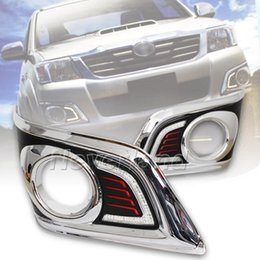 Wholesale Switch For Drl - Waterproof LED Car DRL Daytime Running Lights accessories with a Switch For TOYOTA HILUX VIGO CHAMP 2012 2013 Freeshipping D10
