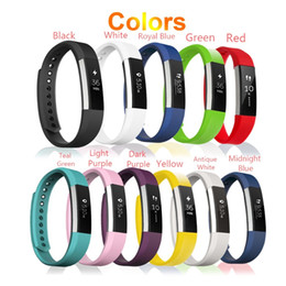 Wholesale Green Colour Watches - Newest Wrist Wearables Silicone Straps Band For Fitbit Alta Watch Classic Replacement Silicone Bracelet Strap Band 17 Colour (No Tracker)