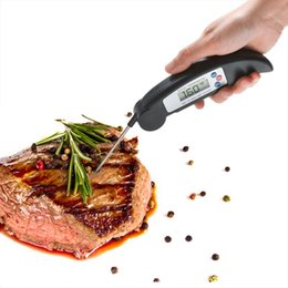 Wholesale Food Barbecue - 4Color New BBQ Foldable Thermometer Barbecue Digital LCD Cooking Food Probe Meat Kitchen Sensor