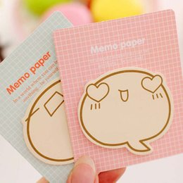 Wholesale Expressions Notes - 20pcs Cute Inspirational Expression Sticky Notes Post It Memo Pad School Supplies Planner Stickers Paper Bookmarks Stationery