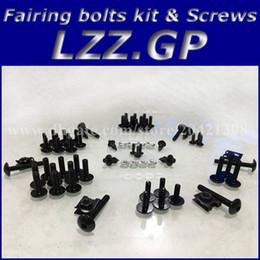 Wholesale Suzuki Fairing Bolts Black - Fairing bolts kit screws for SUZUKI GSXR600 GSXR750 GSXR1000 GSXR1300 TL1000R GSX750 600F GSX650F fairing screw bolts black silver