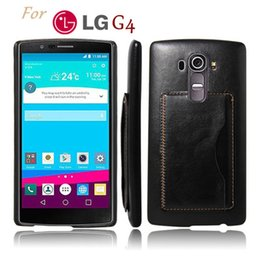 Wholesale LG G4 Back Case Crazy horse Leather Phone Cover Kickstand Stand Card Holder phone accessories For LG Nexus G5 G3 Spirit Magna Leon Ray