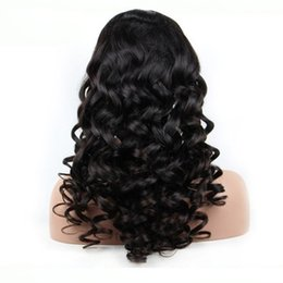 Wholesale Nice Lace Front Wigs - 7A Brazilian Hair Full Lace Human Hair Wigs For Black Women Body Wave Brazilian Hair nice Full Lace Wigs