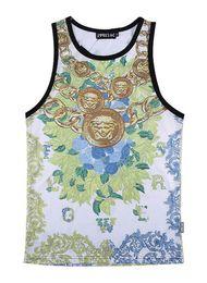 Wholesale Breathable Undershirt - Wholesale- 2016 Summer tide European and American men loose sleeveless T-shirt fashion breathable mesh undershirt beach