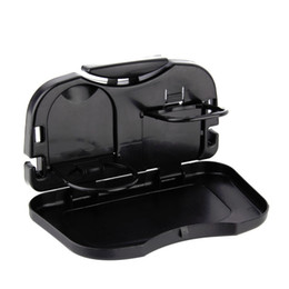 Wholesale Food Tray Holder - Folding Car Tray Food Car Stand Rear Seat Beverage Rack Water Drink Holder Bottle Travel Mount Accessory Foldable Meal Cup Desk Table