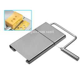 Corte de queijo on-line-Casa Cortar a placa de manteiga de aço inoxidável Cortador de queijo movimento da mão Cozinha Suprimentos