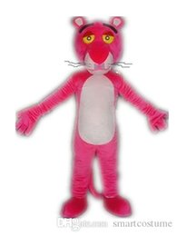 Wholesale Vision Costume - SX0720 Good vision and good Ventilation a thin pink panther mascot costume for adult to wear