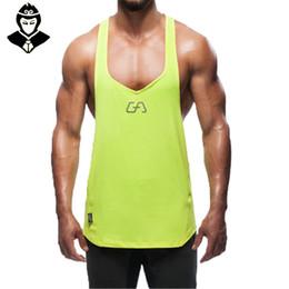 Wholesale Snapback S - Wholesale-Snapback Gym Tank Tops Men Fitness Mens Red Tanktop Mens Shirt Gold Men's Bodybuilding Aesthetics Mens Singlets Boys Sport