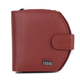 Wholesale Fashionable Credit Card Holders - Ms. purse zipper hasp mini leather wallet men wallet Cowhide handbag fashion, simple, fashionable, soft texture