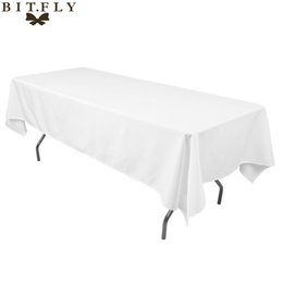 Wholesale satin table cloths white - 145Cmx 304Cm Satin Table Cloth Rectangular Tablecloth Fabric For Home Wedding Tables Restaurant Party Christmas Decoration White