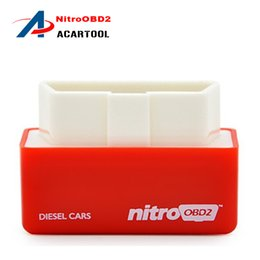 Wholesale volvo car warranty - 2018 New Arrival 1 Year Warranty Plug and Drive OBD2 Chip Tuning Box Performance NitroOBD2 Chip Tuning Box for Diesel Cars