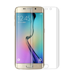 Wholesale S5 3d - 3D Curved PET Soft Film For Samsung Galaxy S7 Edge S8 Plus Clear Full Coverage With Retail Package