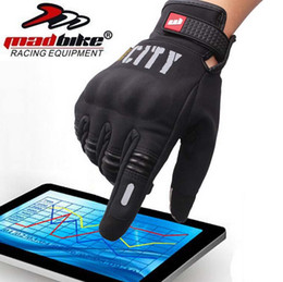 Wholesale Screen Motorcycle - 2016 New Madbike Mad-07 full finger Motorcycle racing gloves knight riding off-road motorbike glove night reflective can touch screen