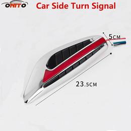 feux-éclair d'avertissement d'incendie Promotion Meilleure qualité 2pcs voiture côté lampes modèles de voiture clignotants safty lampes AUTO clignotant latéral indicateur de lumière lame forme Fender LED lampe de sécurité