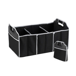 Wholesale Boot Bags - Car Organizer Boot Stuff Food Storage Bags trunk organiser Automobile Stowing Tidying Interior Accessories Folding Collapsible