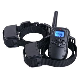 Wholesale Electronic Bark Dog Collars - Blue LCD Display Training Collars for Dog Training Nylon Plastic Electronic Remote Control Anti Bark Dog Shock Training Collars PTC067
