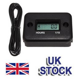 Wholesale Dirt Bike Hour Meter - 1pcs LCD Inductive Digital Hour Meter For Dirt Quad Bike Marine ATV Motorcycle Snowmobile