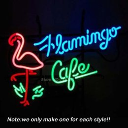 Wholesale Energy Neon - Flamingo Cafe Shop Neon Sign DECORATE Room Design Decorate Restaurant Super Bright Lamp Neon Bulbs Store Display GiftS VD 17x14