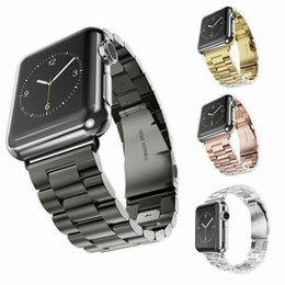 Wholesale Apple Men - Stainless Steel Watchbands Wrist For Iwatch Apple Men Watch Band Strap Women Bracelet Accessories Sport 38mm 42mm With Adapter