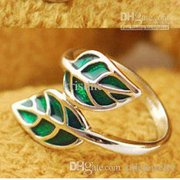 Wholesale Green Stone Prices - free shipping fashion Strongly Recommend maiden fitted ring leaf finger ring hot selling design wholesaler price 30pcs lot