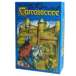 Wholesale Free Games Cards - Carcassonne, English Board Game 2 or 5 Players Cards Game For Party Family Friends Easy To Play With Free Shipping